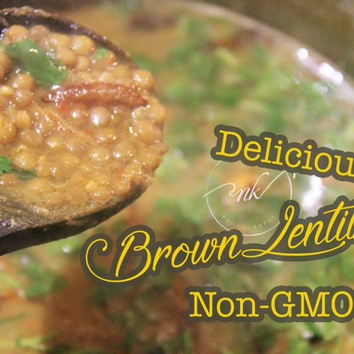Small Brown Lentils Recipe | NON-GMO | Vegetarian