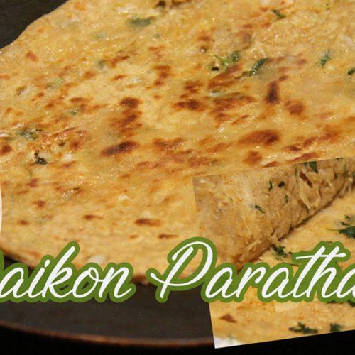 Mooli Paratha   Tortilla With Stuffed Daikon Radish  